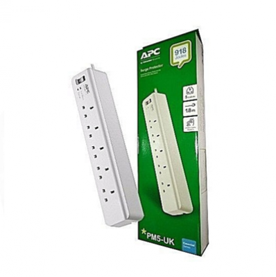 APC SURGE PROTECTOR 5 OUTLET(pm5-uk)