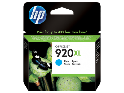 HP 920XL High Yield Cyan Original Ink Cartridge(CD972AE)