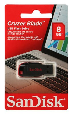 NEW-SanDisk-Cruzer-Blade-8GB-USB-Flash-Drive